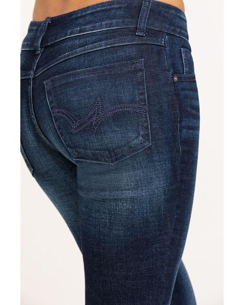 Wrangler Women's Dark Mid Rise Everyday Bootcut Jeans, Blue, hi-res