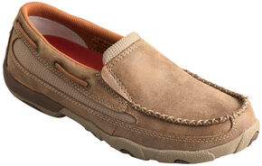 Twisted X Women's Leather Driving Mocs , Bomber, hi-res