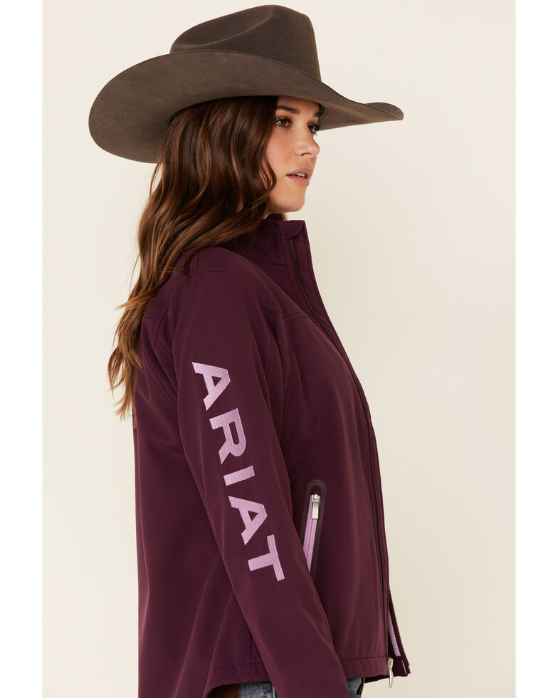 Ariat Women's Plum Team Logo Softshell Jacket , Purple, hi-res