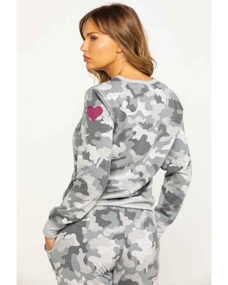 Idyllwind Women's Cozytown Camo Sweatshirt, Camouflage, hi-res