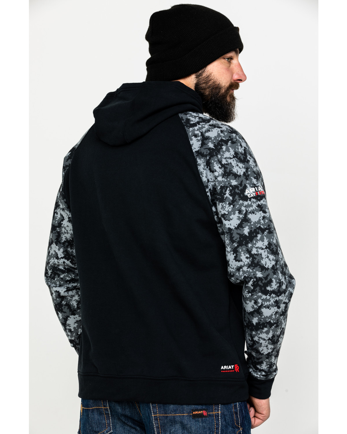 Ariat Men s Black Digi FR Patriot Hoodie - Country Outfitter 0aed1a852
