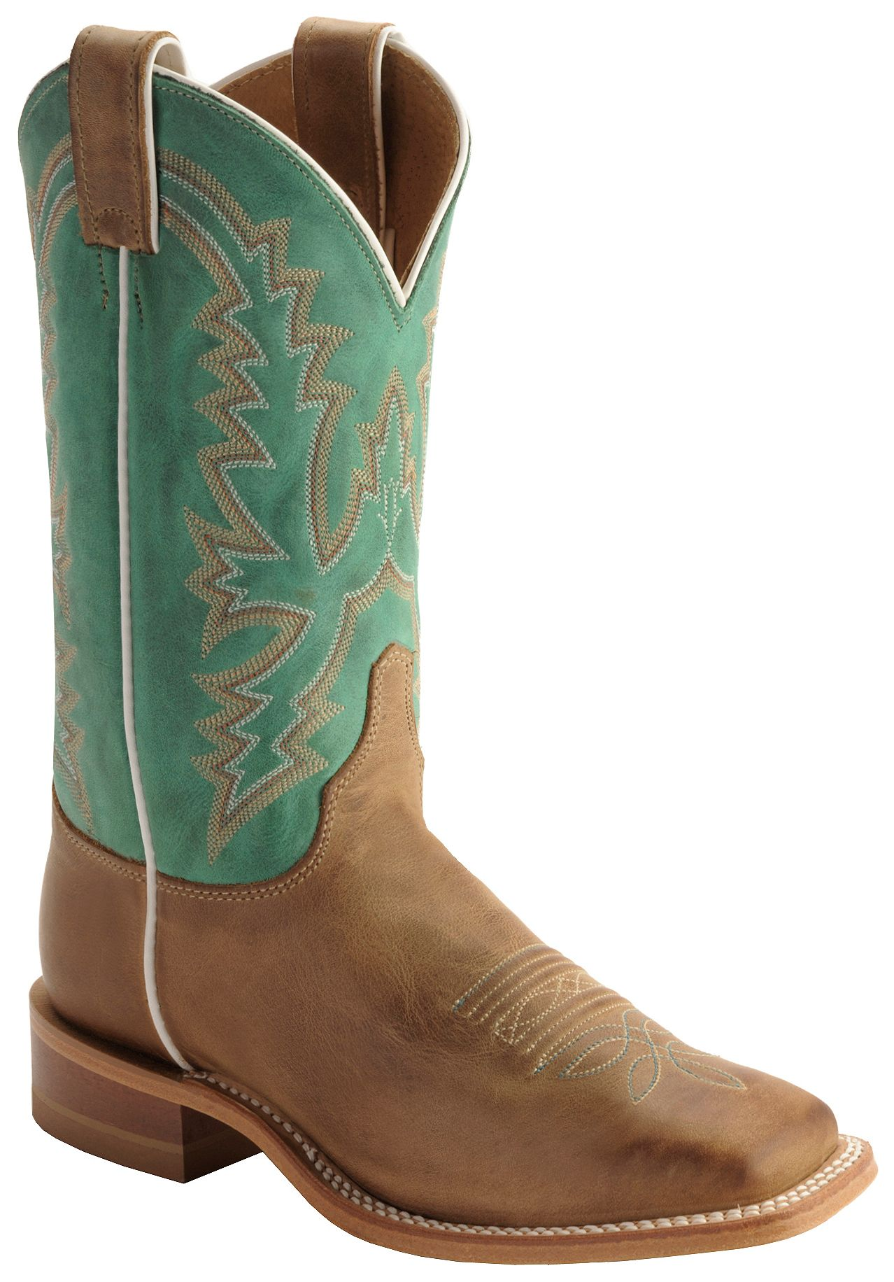 justin  bent rail  justin 's kenedy tan cowgirl bottes bouts carrés 16489c