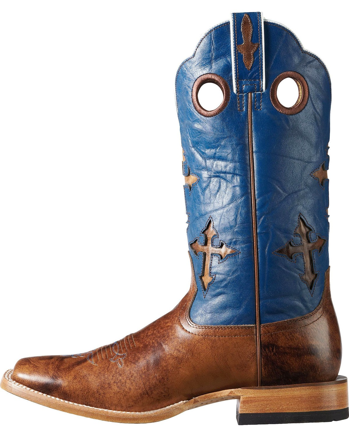 Ariat Ranch Cross Inlay Cowboy Boots - Square Toe - Country Outfitter