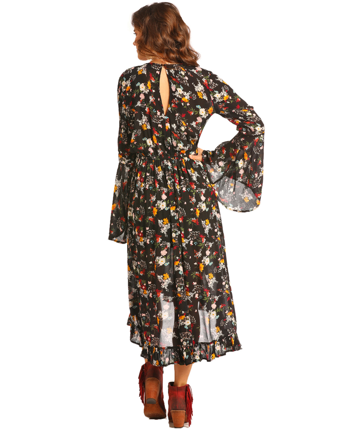 8a84b102 Shabby Country Chic Dress · Country Floral Print Dress: Rock & Roll Cowgirl  Women's Floral Print Hi Low Dress