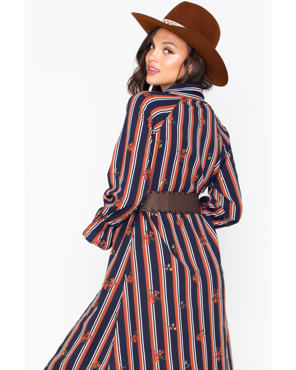 c4bd4f9acb Miss Me Women s Striped Button Down Shirt Dress - Country Outfitter