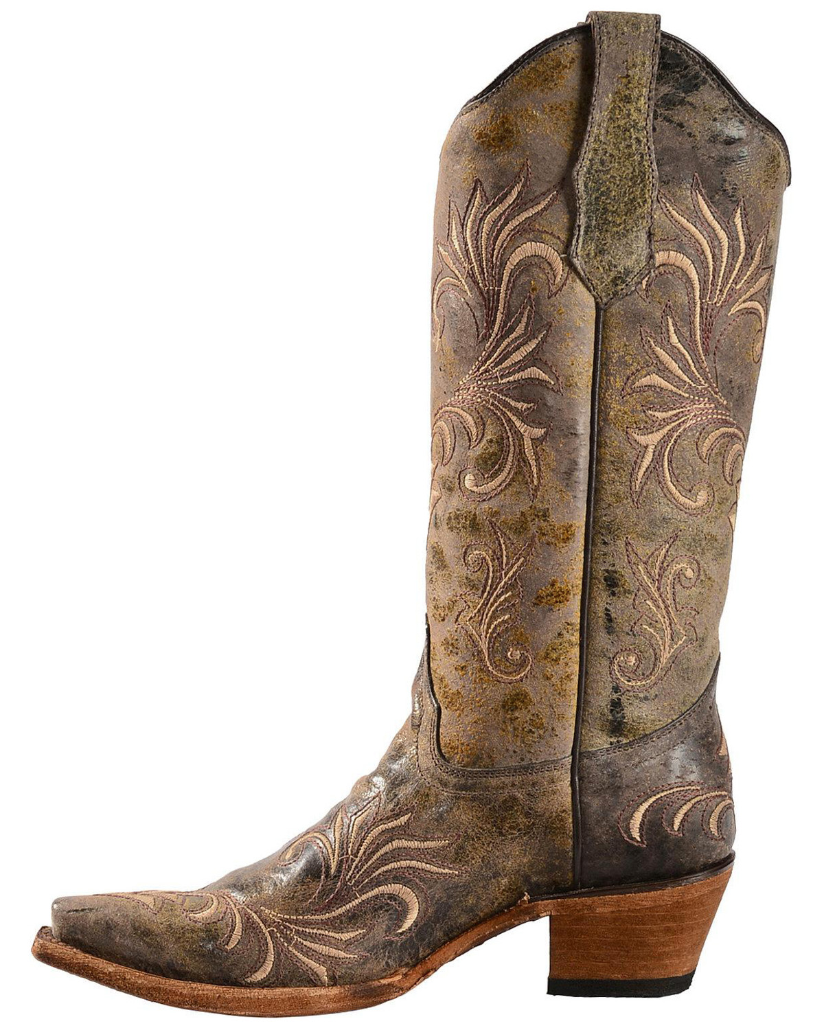 Circle G Women's Filigree Cowgirl Boots - Snip Toe - Country Outfitter