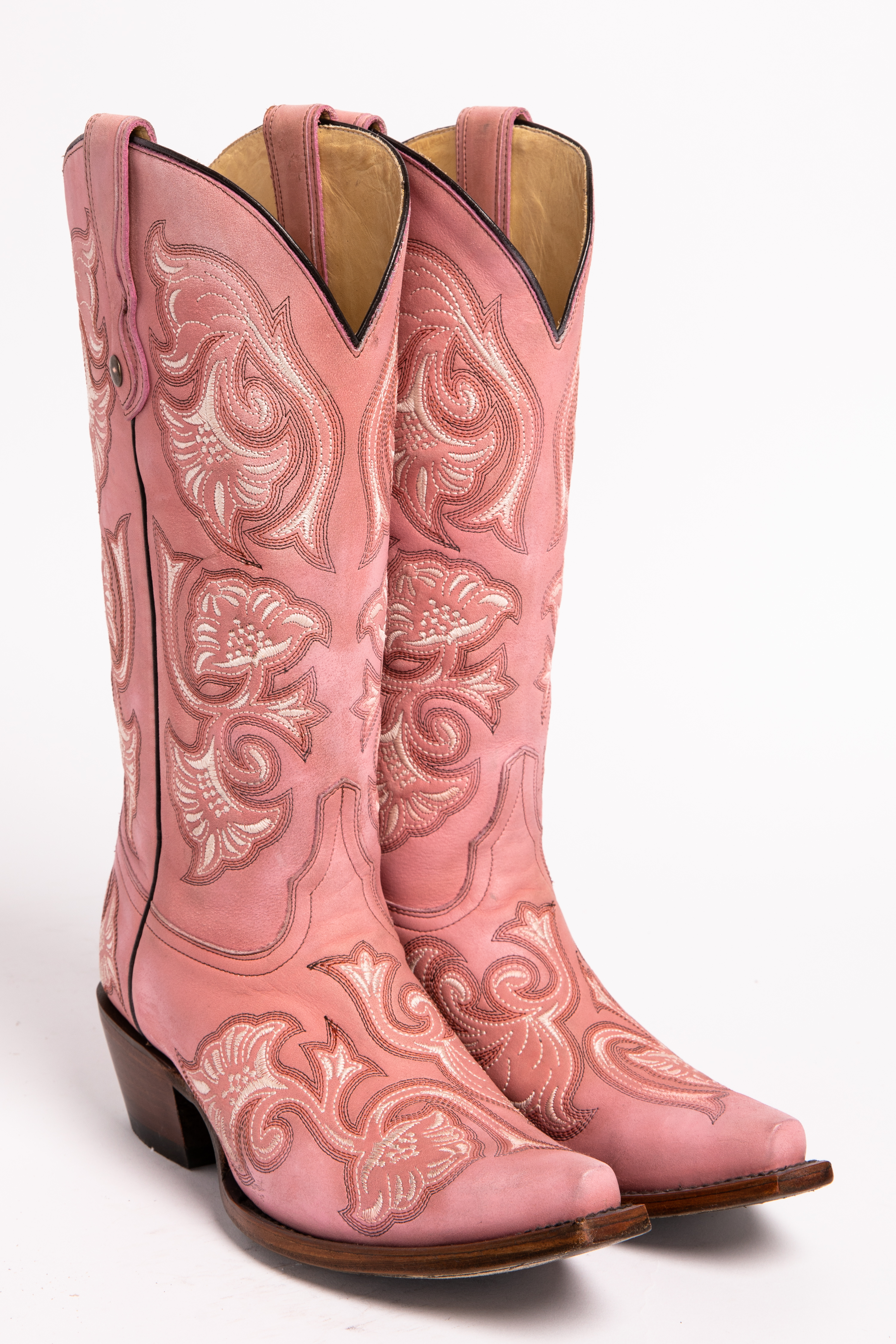 96b98cc57d00b5 Corral floral embroidered pink cowgirl boots snip toe pink hi res JPG  3000x4500 Boots pink
