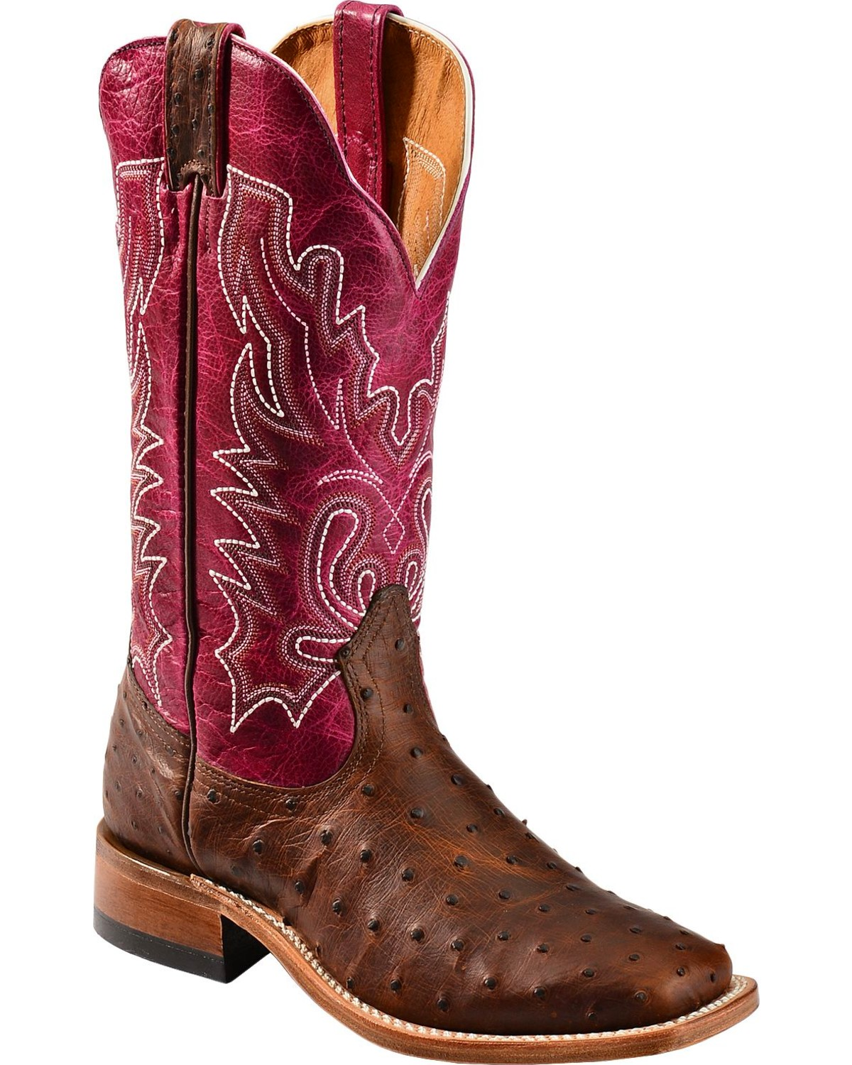 Boulet Antique Full Quill Ostrich Cowgirl Boots Square