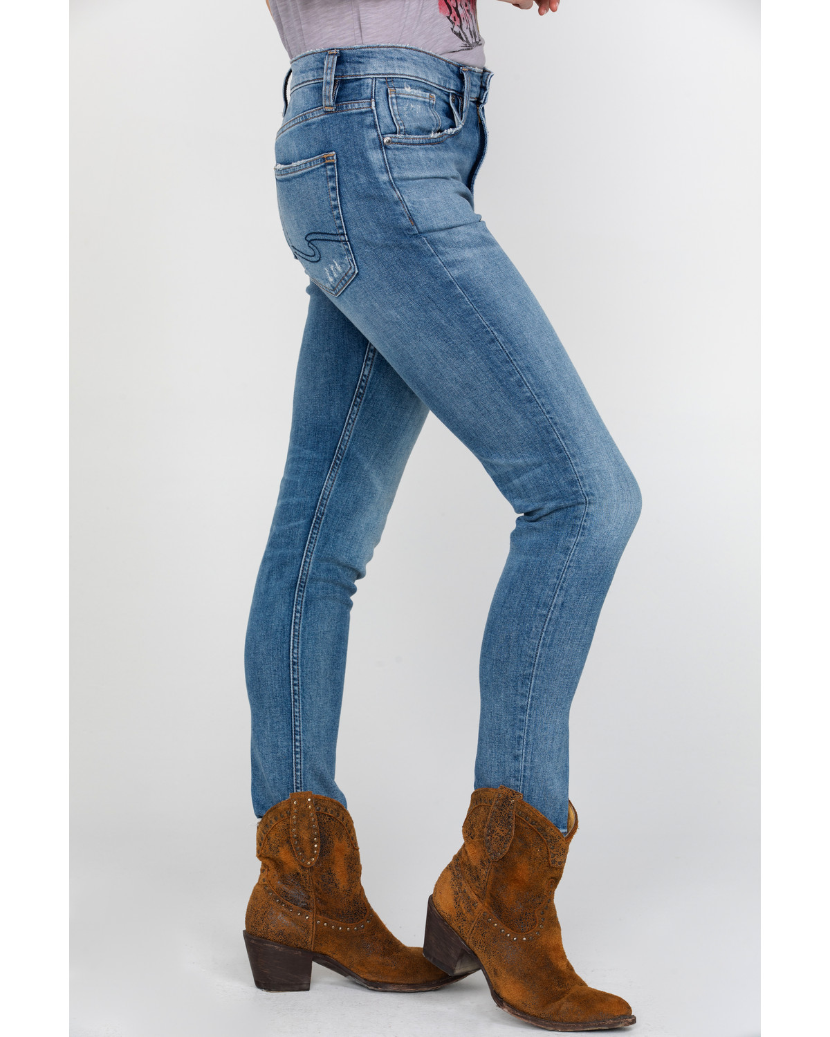 8c36064cb5b Silver Women s Frisco High Rise Tapered Jeans - Country Outfitter