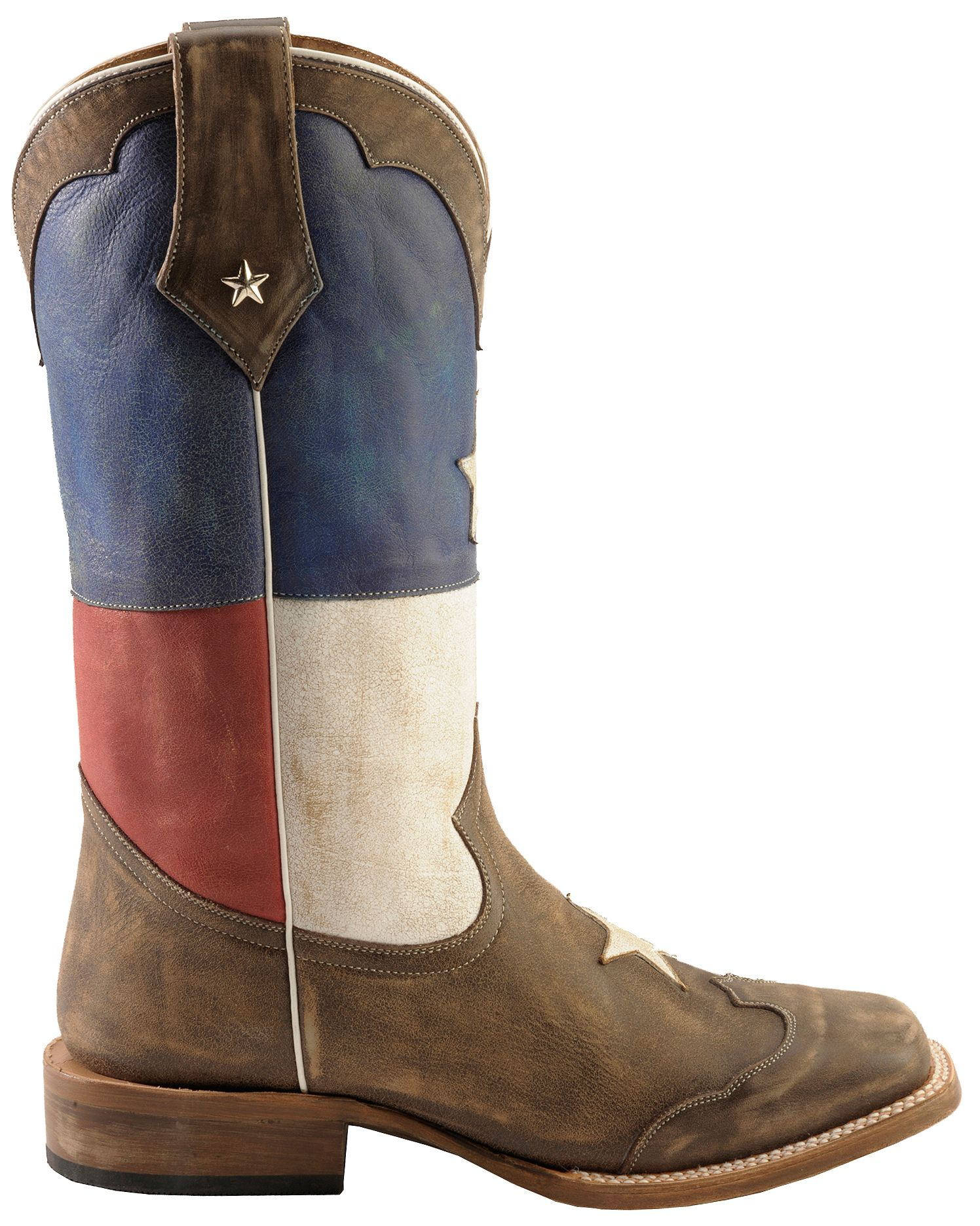 Roper Texas Flag Cowboy Boots Square Toe Country Outfitter