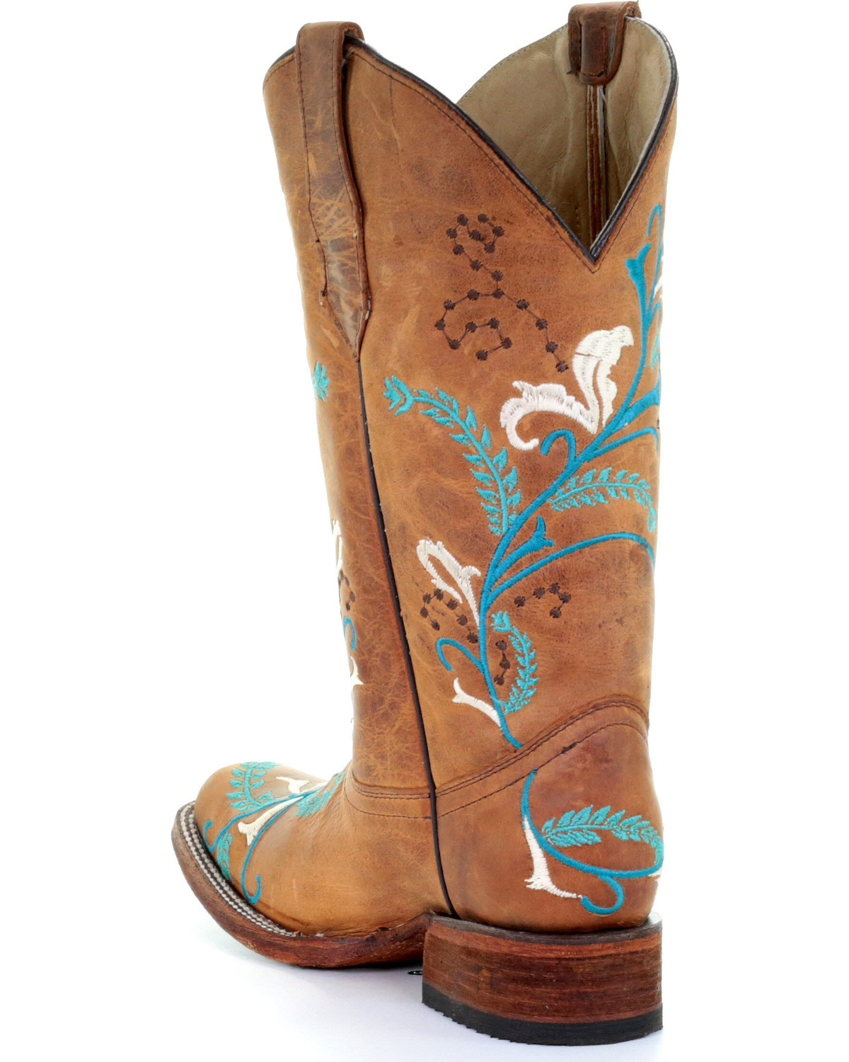 Circle G Women S Diamond Embroidered Cowgirl Boot Square: Circle G Women's Turquoise Embroidered Cowgirl Boots