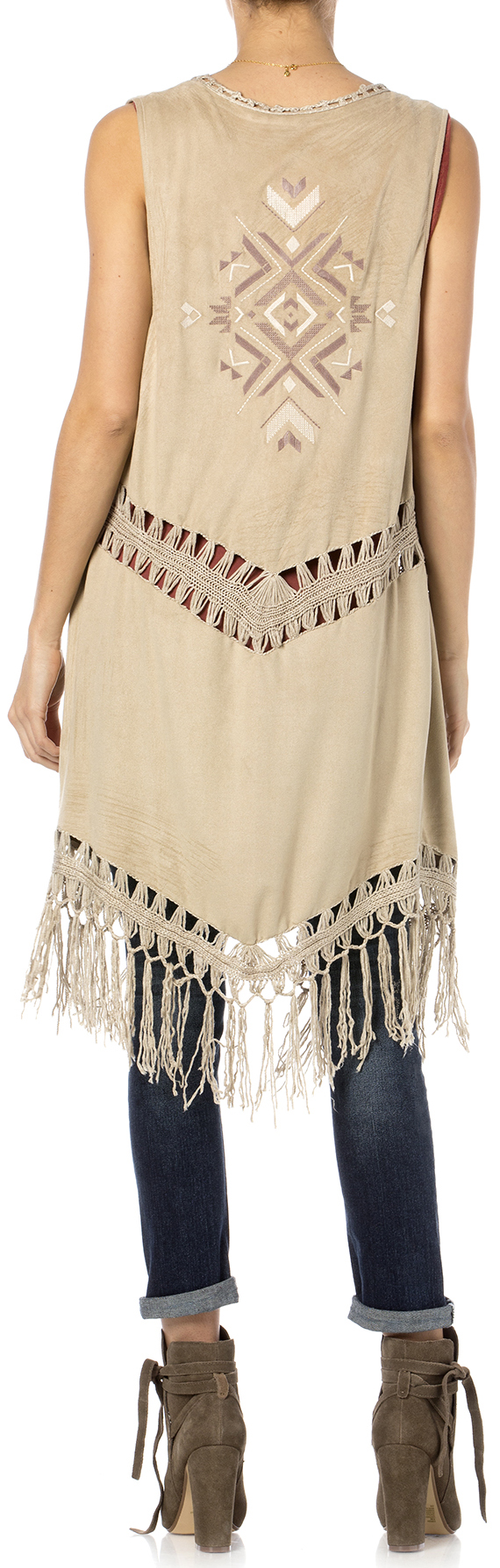 9dedcade201a Miss Me Women s Oh Mayan Fringe Vest - Country Outfitter