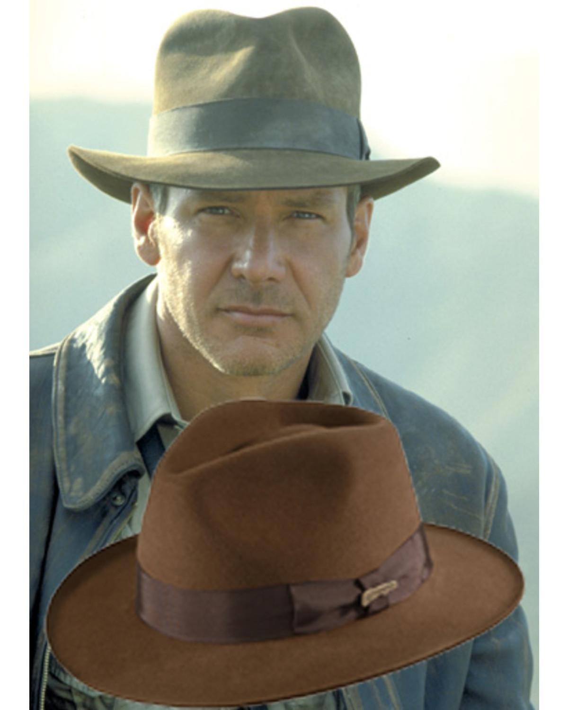 f503fab588b5b Indiana Jones Fur Felt Fedora Hat - Country Outfitter