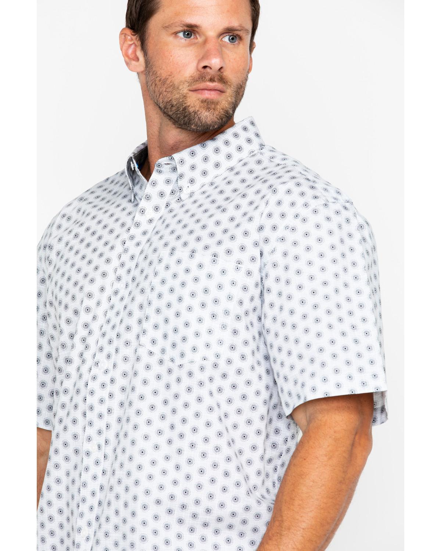 2577417671 Cody James Men s White Orbit Print Short Sleeve Western Shirt ...