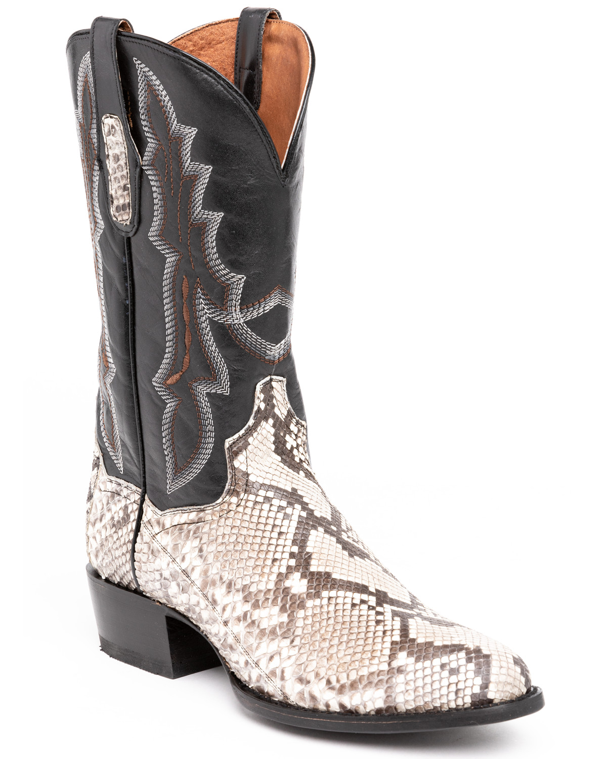 Dan Post Men S Natural Belly Cut Python Cowboy Boots