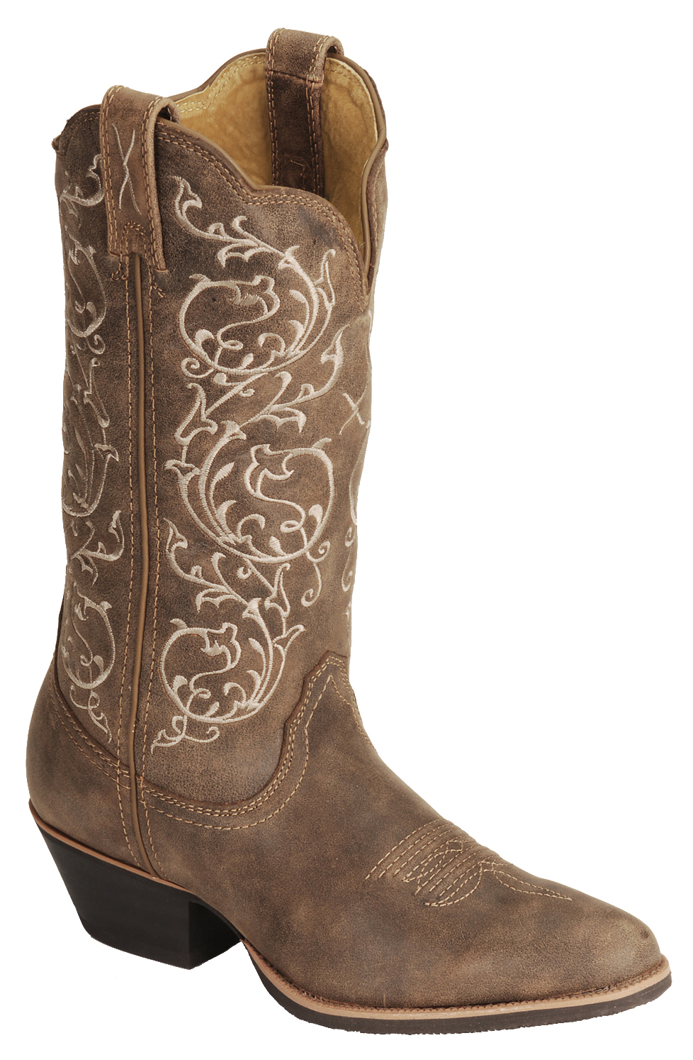 Model Twisted X Boots Embroidered Leather Cowboy Boots (For Women) - Save 42%