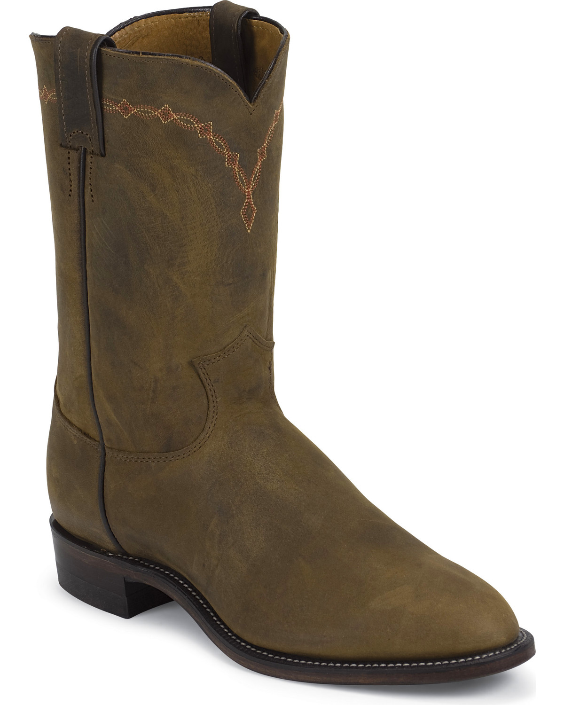 Justin Bay Apache Classic Roper Boots Round Toe