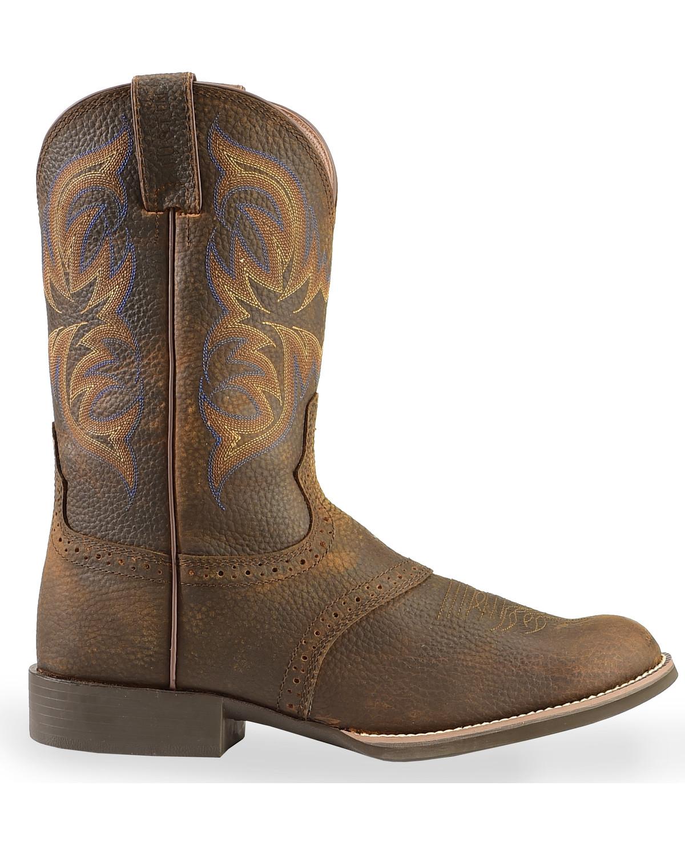 Justin Stampede Cattleman Cowboy Boots Round Toe
