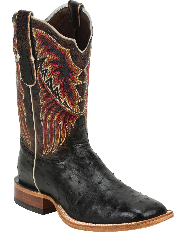 Tony Lama Black Label Full Quill Ostrich Cowboy Boots