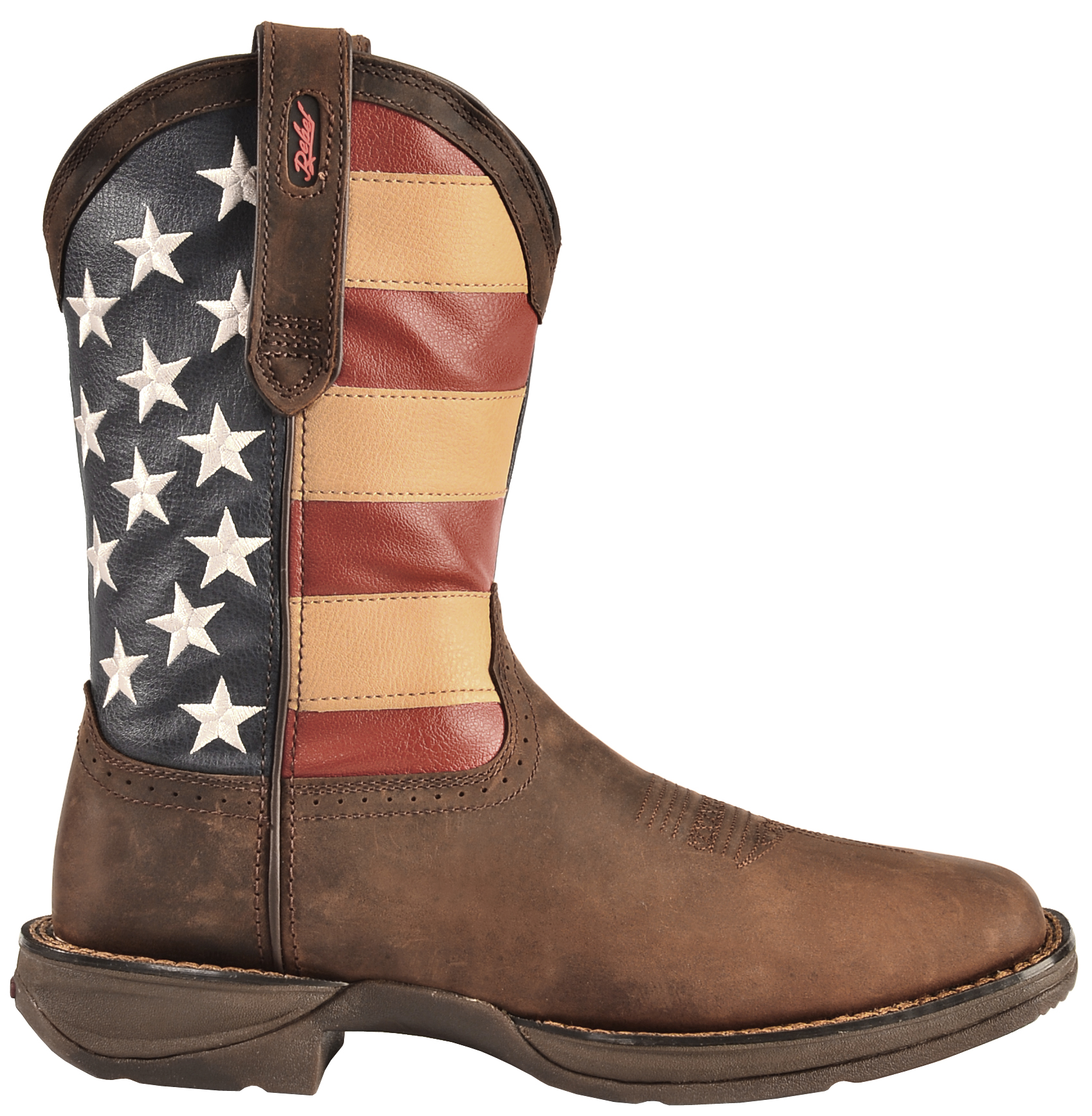 Durango Rebel Men S American Flag Cowboy Boots Square