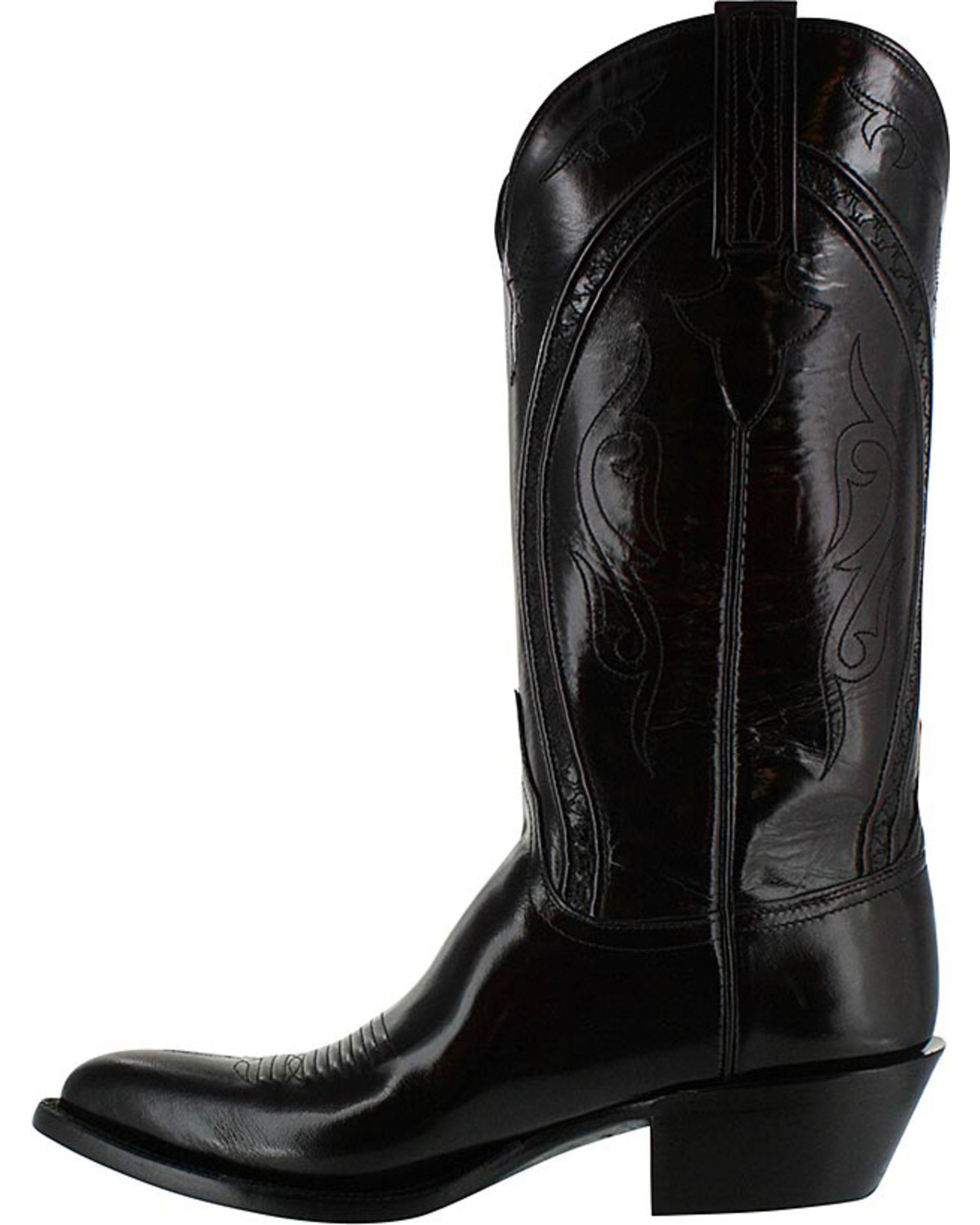 Lucchese Men S Handmade Black Western Boots Pointed Toe