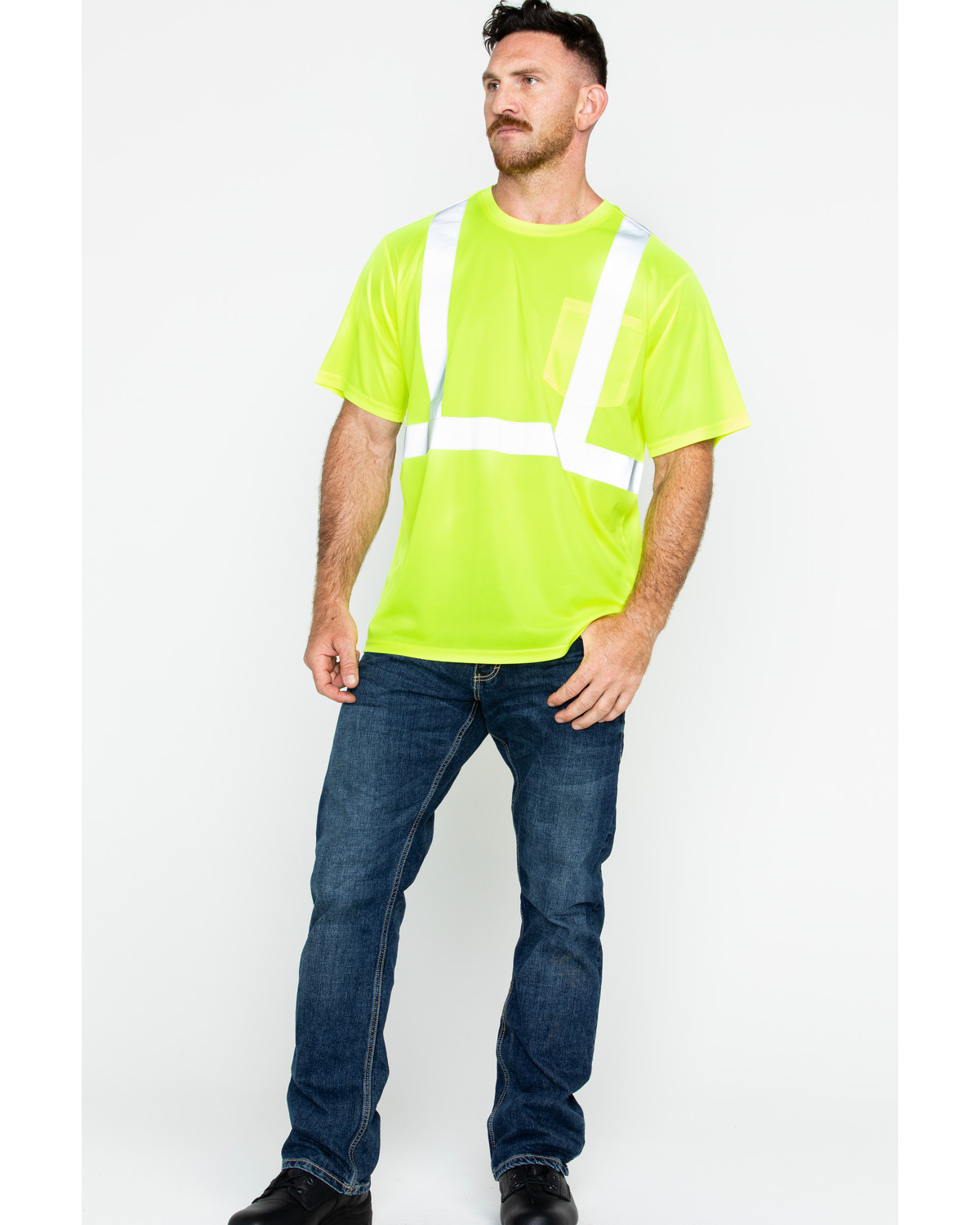 ce0dd829a60 Hawx® Men s Short Sleeve Reflective Work Tee - Big   Tall - Country ...