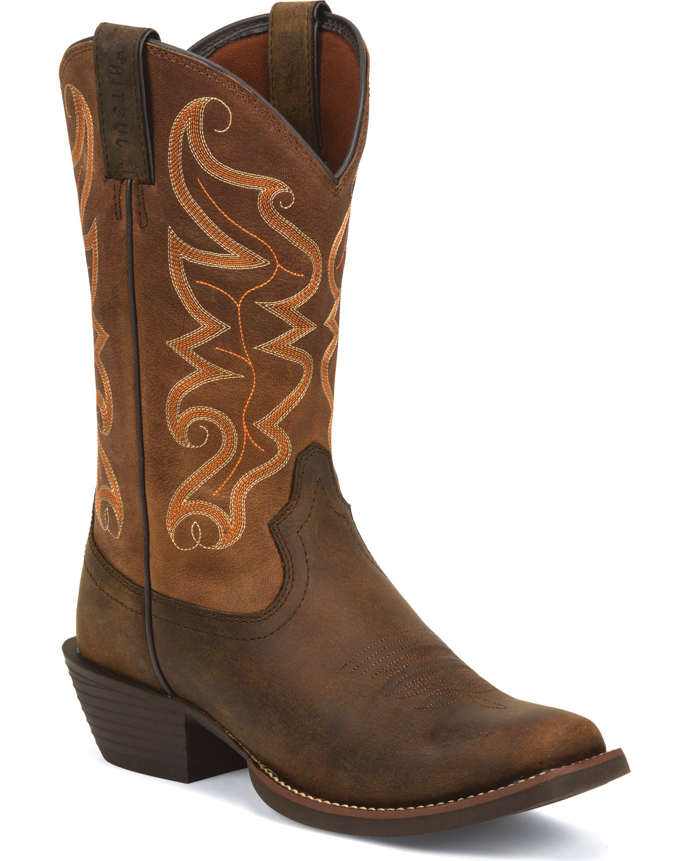 Justin Men S Kaven Stampede Cowboy Boots Square Toe
