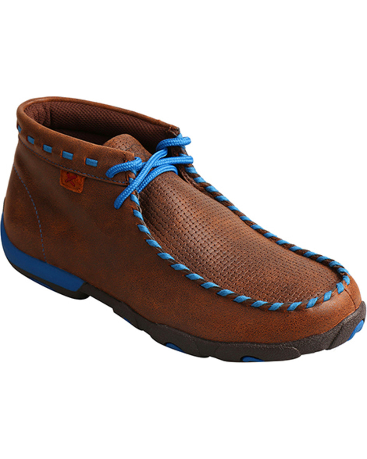 Perfect Twisted X Mens All Round Lace Up Boots In Distressed Saddle Leather - Koolstuff Australia