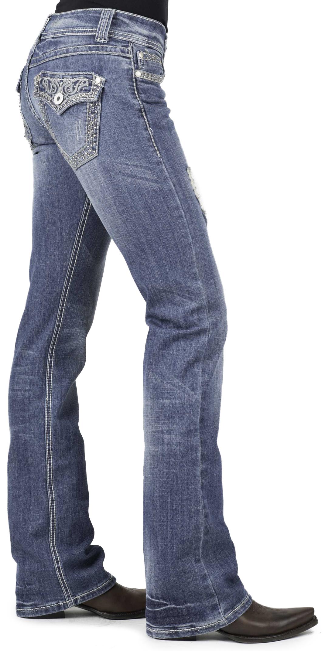 Slim Bootcut Jeans Womens