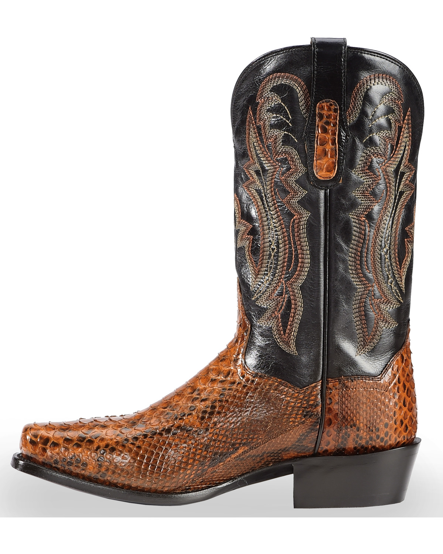 Dan Post Men S Cognac Back Cut Python Cowboy Boots