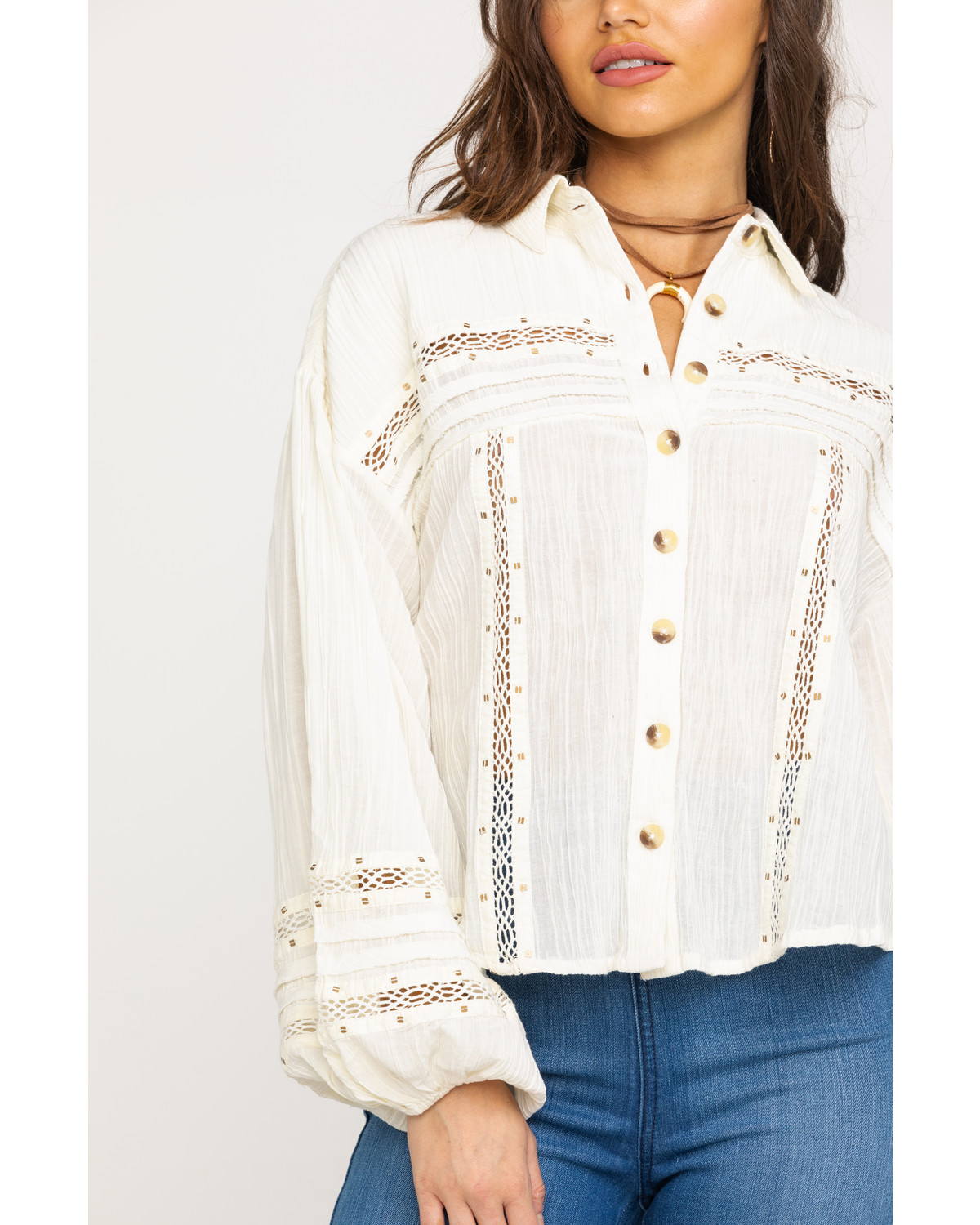 4dd7dd057310a Free People Women s Summer Stars Button Top - Country Outfitter
